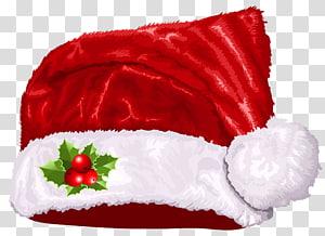 Santa Claus Hat Santa suit, Santa Hat Natal Besar, topi Santa Clause merah dan putih png