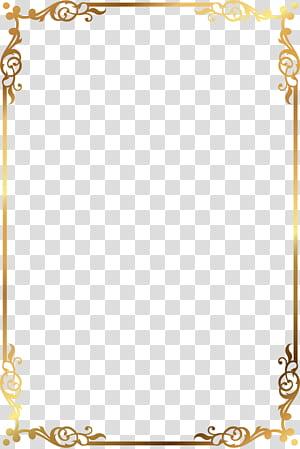 , Bingkai pola emas, bingkai bunga emas dan coklat png