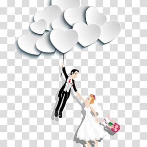 Bunga Wall decal, bunga, pria memegang balon sambil memegang stiker wanita png