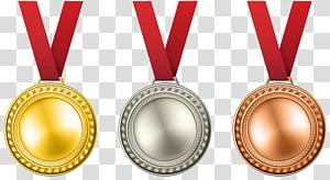 Medali emas Penghargaan medali perak, Medali Set, medali perak dan perunggu png