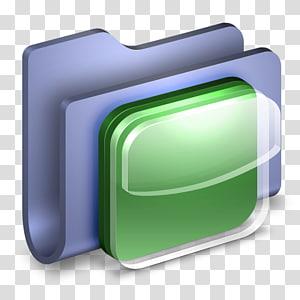 hard case biru dan hijau, font garis sudut, Folder Biru Ikon iOS png