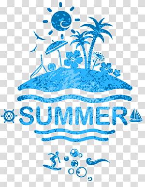 ilustrasi musim panas biru, Poster, musim panas PNG clipart