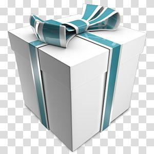 Hadiah, Hadiah, kotak hadiah putih dan hijau png