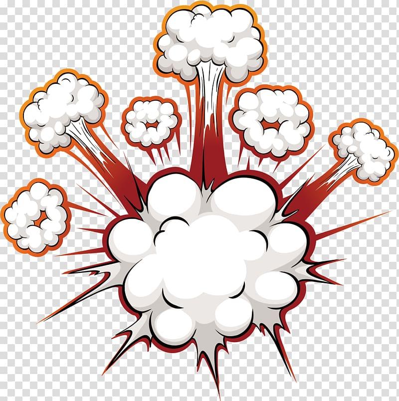 Komik Ledakan Pidato balon, Efek ledakan bom, ilustrasi awan png