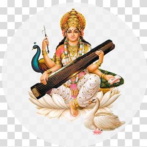 Ilustrasi Dewa Hindu, Saraswati Vandana Mantra Devi, Saraswati png