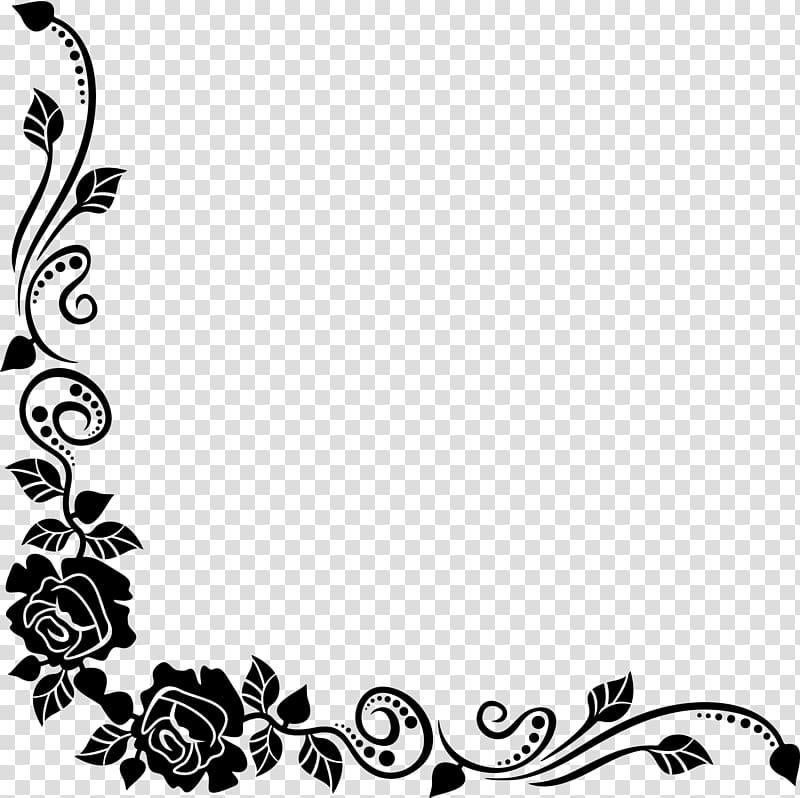 desain bingkai bunga hitam, mawar hitam perbatasan bouquet bunga terbaik, sudut bunga PNG clipart