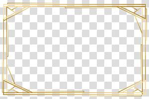 Pola Kuning Titik Sudut, bingkai emas, bingkai kayu coklat persegi panjang png