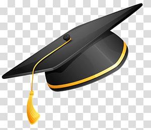 topi kelulusan hitam dan kuning, topi akademik Square Upacara Wisuda Scalable Graphics, Master cap png