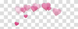 ilustrasi pink hati, Stiker Jantung PicsArt Studio Desktop Hari Valentine, memerah emoji png
