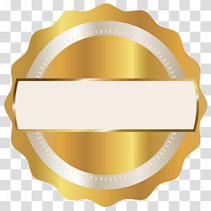 logo emas bulat bergigi tepi, Lencana, Lencana Segel Emas PNG clipart