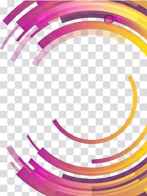 Abstraksi Lingkaran Geometri diferensial abstrak, Lingkaran geometris abstrak berwarna-warni, bulat biru, merah muda, dan kuning PNG clipart