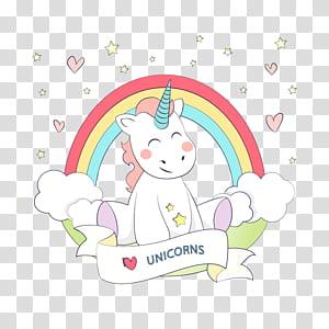 Unicorn Rainbow Euclidean Warna, Unicorn, ilustrasi unicorn png