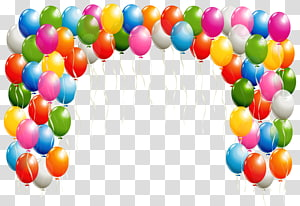 Balon, Balon Lengkungan, balon plastik aneka warna png
