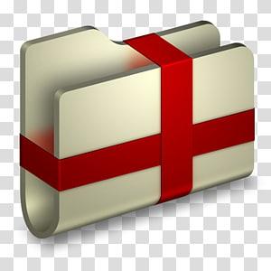 bungkus folder abu-abu dengan ilustrasi tali merah, persegi panjang, Folder Paket png