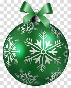 stiker perhiasan Natal hijau dan putih, ornamen Natal, Bola Natal Hijau Besar png