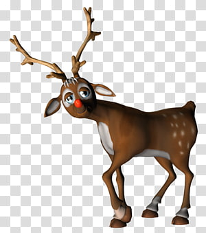 rusa coklat, Rudolph Reindeer Santa Claus, Rudolf png