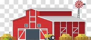 ilustrasi gudang kayu merah dan putih, Gudang Kartun Lumbung Pertanian, Gudang kartun negara merah png