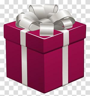 ilustrasi kotak hadiah merah dan abu-abu, Hadiah Natal, Hadiah Merah Muda dengan Busur Perak png