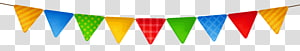 ilustrasi buntings warna-warni, Streaming media Ikon File komputer, Colorful Streamer png