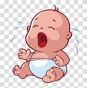 ilustrasi bayi menangis, Bayi Kartun Menangis, Menangis bayi png