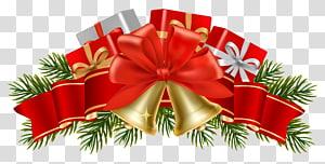 Hiasan Natal Hiasan Natal Pohon Natal, Dekorasi Natal dengan lonceng, pita busur dan ilustrasi lonceng png