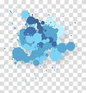 memerciki nuansa cat biru, Lukisan cuci tinta Adobe Illustrator, Abstrak noda air biru png