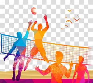 ilustrasi permainan voli, Olahraga Bola Voli, situs permainan Voli png