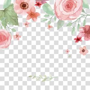 Undangan pernikahan Kartu Ucapan Hari Kakek Nenek Nasional Simpan tanggal, bunga cat air, mawar merah muda png