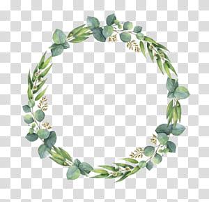 Undangan Pernikahan Lukisan Cat Air Daun, Daun Cat Air, tanaman berdaun hijau png