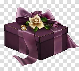 ilustrasi kotak hadiah ungu, Kado Mawar, Hadiah Ungu png