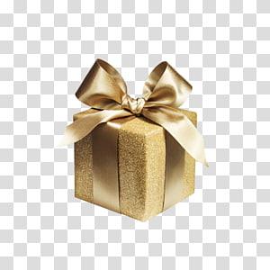 kotak hadiah coklat, Kotak Kertas Pembungkus Kado Emas, kotak hadiah yang dibungkus Emas png