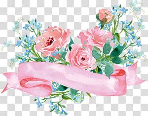 Taman mawar Kertas Bunga, dekorasi Bunga, ilustrasi bunga dan pita png