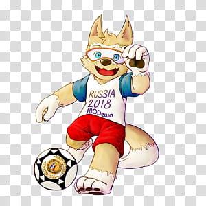 Piala Dunia FIFA 2018 Zabivaka Maskot Rusia, Piala Dunia 2018, Rusia 2018 SBODewa ilustrasi maskot png