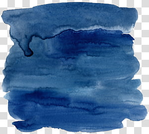 Tinta lukisan cat air biru, efek cat air biru tua, cat biru PNG clipart