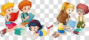 ilustrasi buku bacaan anak-anak, Ilustrasi Kerja Tim Anak Euclidean, bacaan tangan yang dilukis anak-anak png