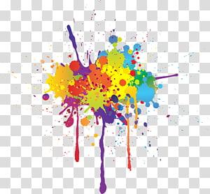 ilustrasi percikan cat, lukisan Cat Air Tinta, percikan warna png