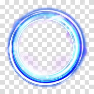 Efek cahaya yang brilian, cahaya LED biru bulat png