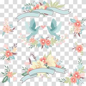 Undangan pernikahan Bunga, bunga pernikahan burung cinta, bunga pernikahan merah muda dan template pernikahan PNG clipart