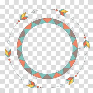 Gambar Euclidean, panah bundar, ilustrasi spanduk png