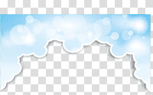 bingkai gelembung putih dan biru, Awan Langit, Batas Awan png