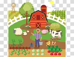 Petani Ternak Sapi, Menanam Sayur png