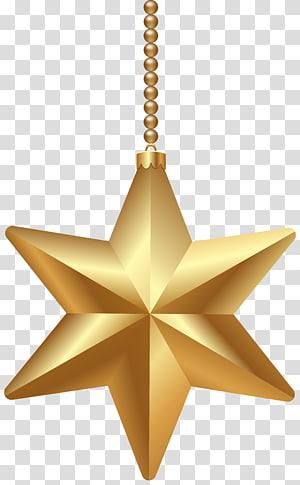 ornamen bintang 6 berujung emas, Bintang Natal Betlehem, Bintang Natal Emas png