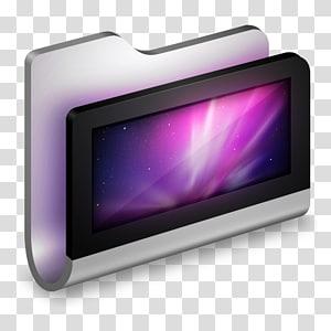 organizer baja hitam dan abu-abu, multimedia perangkat layar ungu, Folder Logam Desktop png