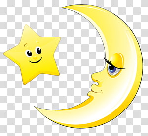 Pokemon Sun dan Bulan Princess Luna Menggambar Lukisan, Bulan dan Bintang Lucu, bulan sabit kuning dan ilustrasi bintang PNG clipart