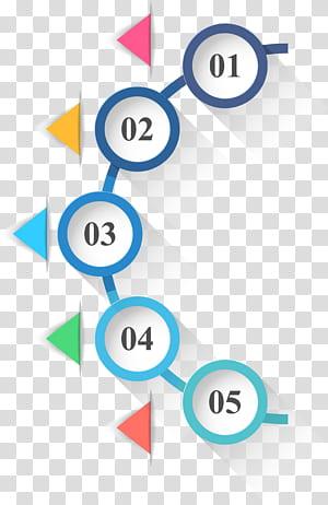 Ikon Lingkaran Infografis, Lingkaran dan segitiga infografis PPT, 01-05 teks PNG clipart