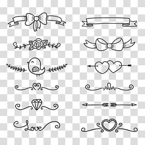 ilustrasi berbagai macam warna, Gambar Doodle Euclidean, garis dekoratif png