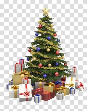 Hadiah pohon natal, pohon natal png