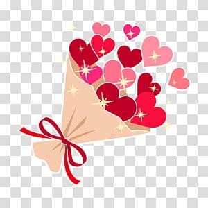 karangan hati, Bouquet of Heart Red., Lainnya png