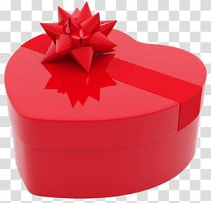 Jantung kotak hadiah perhiasan merah, Hadiah hari Valentine itu, Karangan bunga jantung, Valentines Day jantung kotak hadiah png