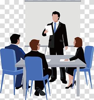 ilustrasi orang-orang dalam rapat, Ilustrasi Ilustrasi Bisnis Euclidean Rapat, diskusi PNG clipart